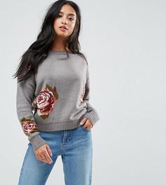 Джемпер с цветочным узором Vero Moda Petite - Серый