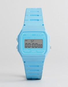Силиконовые цифровые часы Casio F-91WC-2AEF - Синий