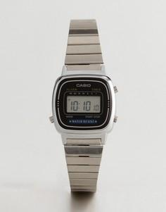 Серебристые наручные цифровые часы Casio LA670WEA-1EF - Серебряный