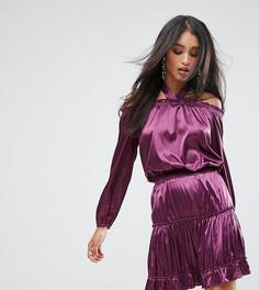 Платье мини с ярусным дизайном и халтером Lioness - Фиолетовый