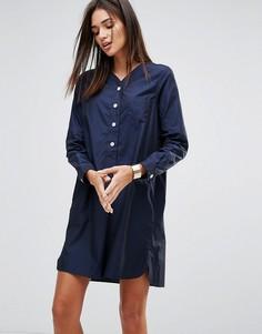 Поплиновое платье в спортивном стиле YMC - Темно-синий