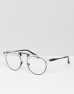 Круглые очки с прозрачными стеклами Jeepers Peepers - Мульти