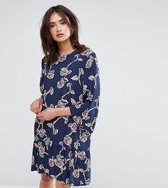Платье с цветочным принтом Y.A.S Tall - Темно-синий