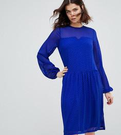 Фактурное свободное платье Y.A.S Tall - Синий
