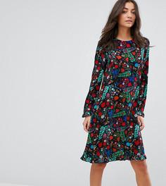 Свободное платье с цветочным принтом Y.A.S Tall - Мульти