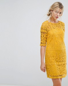 Кружевное платье Little Mistress - Желтый