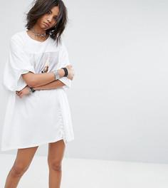 Платье-футболка в стиле оверсайз со шнуровкой Milk It Vintage - Белый