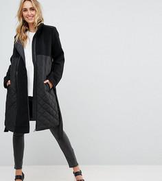 Длинная куртка с отстегиваемой вставкой Mamalicious - Черный Mama.Licious