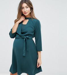 Платье для кормления с запахом и чокером Mamalicious - Зеленый Mama.Licious