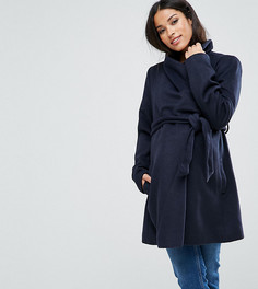 Куртка с поясом Mamalicious - Темно-синий Mama.Licious