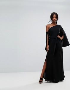Платье макси на одно плечо C/Meo Collective Beyond Me - Черный