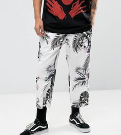 Свободные брюки с цветочным принтом Reclaimed Vintage Inspired - Белый