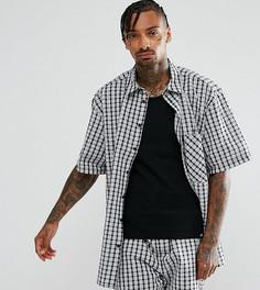 Оверсайз-рубашка в клетку Reclaimed Vintage Inspired - Черный