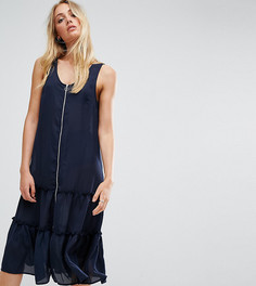 Платье с оборкой и молнией Noisy May Tall - Темно-синий