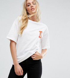 Футболка с принтом Noisy May Tall - Белый