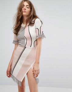 Трикотажное платье Weekday Press Collection - Мульти