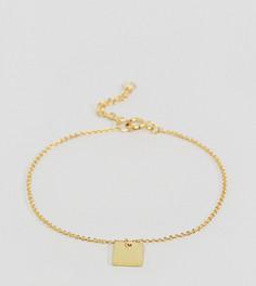 Браслет-цепочка из позолоченного серебра ASOS - Золотой