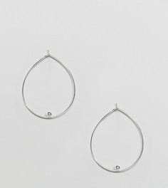 Серебряные овальные серьги-кольца ASOS - Серебряный