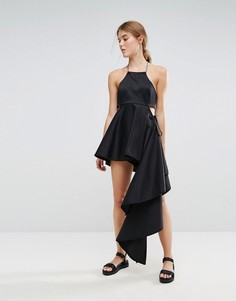 Асимметричное платье Weekday Press Collection - Черный