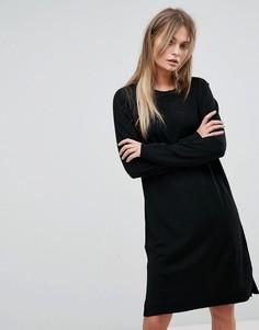 Трикотажное платье Selected - Черный