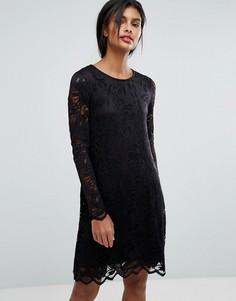Кружевное платье Vila - Черный