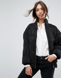 Фактурная дутая куртка Vila - Черный