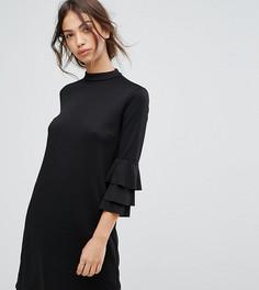 Платье с оборками на рукавах Vila - Черный
