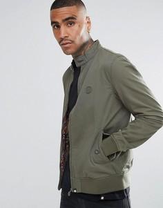 Зеленая хлопковая куртка Харрингтон с принтом пейсли на подкладке Pretty Green - Зеленый