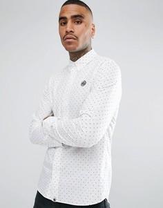 Белая рубашка в горошек с длинными рукавами Pretty Green - Белый