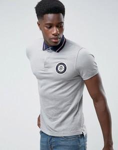 Серая футболка-поло с большим логотипом Tommy Hilfiger Carl - Серый