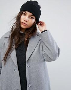 Трикотажная шапка-бини Weekday - Черный