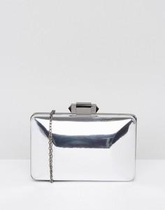 Клатч-футляр оловянного цвета True Decadence - Серый