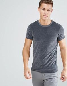 Велюровая футболка Selected Homme - Серый