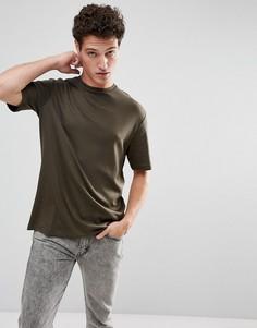 Oversize-футболка с заниженной линией плеч Selected Homme - Зеленый