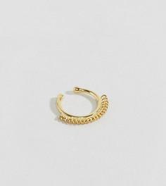 Серьга для носа из позолоченного серебра ASOS - Золотой