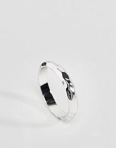 Кованое кольцо на большой палец ASOS - Серебряный