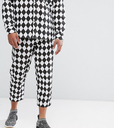 Свободные брюки с принтом в клетку Reclaimed Vintage HALLOWEEN Inspired - Черный
