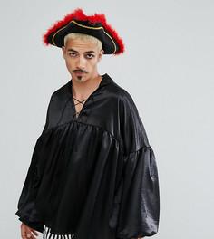 Рубашка пирата со шнуровкой Reclaimed Vintage HALLOWEEN Inspired - Черный