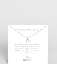 Ожерелье с покрытием из розового золота Dogeared - Золотой