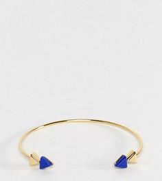 Браслет-манжета из позолоченного серебра со стрелами ASOS - Золотой