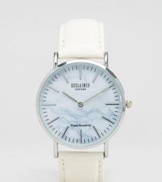 Часы с белым кожаным ремешком и мраморным циферблатом Reclaimed Vintage Inspired - Белый