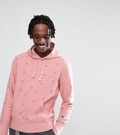 Розовый худи со сплошным принтом логотипа Champion эксклюзивно для ASOS - Розовый