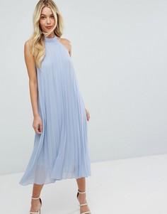 Коктейльное платье с халтером BCBGeneration - Синий