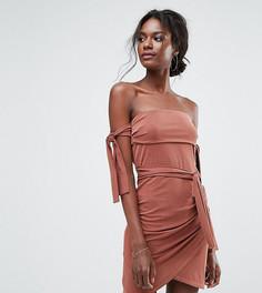 Эксклюзивное платье мини с открытыми плечами Bec & Bridge - Красный