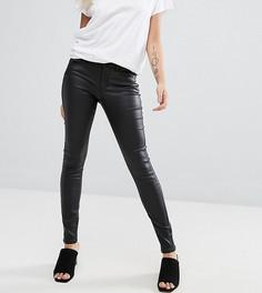 Облегающие джинсы с покрытием Vero Moda Petite - Черный