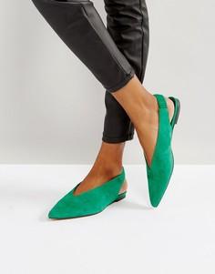 Замшевые туфли Gestuz - Зеленый