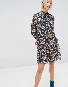 Платье мини с цветочным принтом Gestuz - Мульти