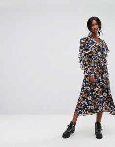 Платье миди с цветочным принтом Gestuz - Мульти