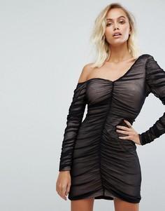 Платье на одно плечо Fashion Union - Черный