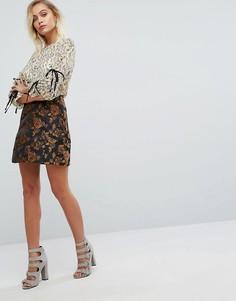 Mини-юбка Fashion Union - Мульти